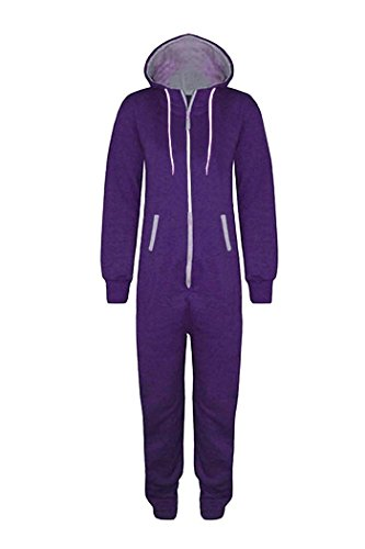 WOTOGOLD Men And Women Adult Pajamas Sportswear Hooded Unisex Jumpsuit Purple (Adult Purple Hooded Robe Costume)