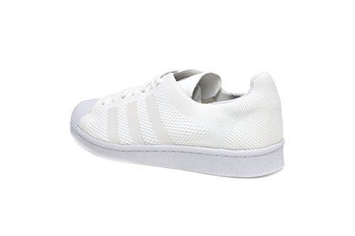 Superstar Primeknit (with Boost) Mens in White/White by Adidas, 9.5