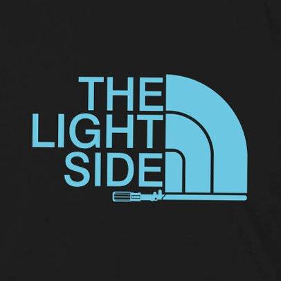 The Light Side - Herren T-Shirt, Größe: L, dunkelblau