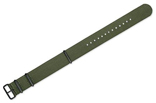 18mm-Military-MoD-Ballistic-Nylon-G10-Premium-Watch-Band-Olive-w-Black-PVD-Buckle