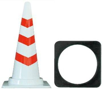 高耐久 スコッチコーン コーンベット付 8本セット (白赤) B07B3XGJB9 白赤