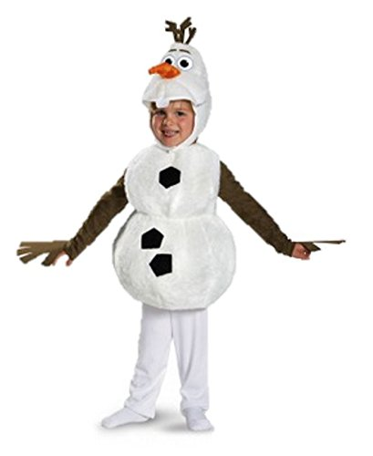 [Disguise Baby's Disney Frozen Olaf Deluxe Toddler Costume,White,Toddler S (2T)] (Olaf Boys Costumes)