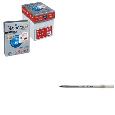 KITBICGSM11BKSNANMP1120PLT - Value Kit - Navigator Premium Multipurpose Paper (SNANMP1120PLT) and BIC Round Stic Ballpoint Stick Pen (BICGSM11BK) by NAVIGATOR