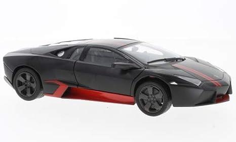 Amazon Com Lamborghini Reventon Matt Black Red 0 Model Car