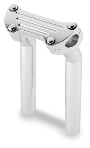 Style Riser (Bikers Choice 4.5 in. Grooved Style Top Clamp Pullback Risers for Harley Davids)