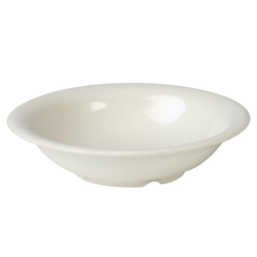 Excellanté Ivory Melamine Collection 7-1/4-Inch Soup Bowl, 12-Ounce, Ivory, (12 Ounce Melamine Bowl)