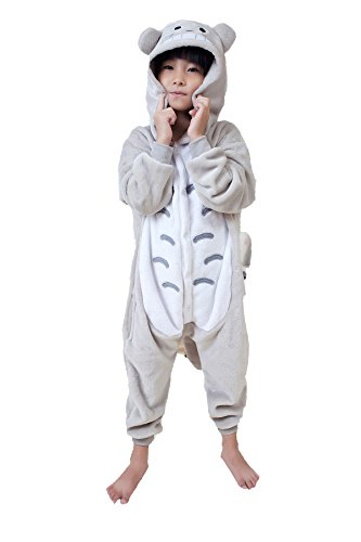 [EkarLam Children Kids Cute Animal Hoody Halloween Cos Pajamas Romper Suit (Totoro ) 120(115-125)] (Cute Couples Halloween Outfits)