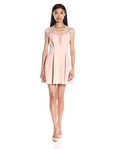Bcbgeneration Women'S Lace Inset Dress, Rose Smoke, 10 Features