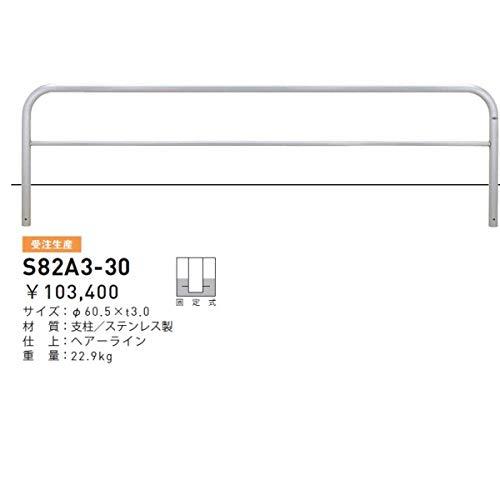 帝金 S82A3-30 バリカー横型 スタンダード ステンレスタイプ W3000×H650 直径60.5mm 固定式   B00V23UEWS