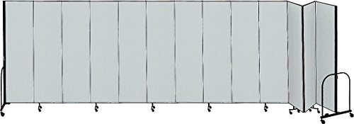 (Screenflex - CFSL5013 GREY - 24 ft. 1 in. x 5 ft, 13-Panel Portable Room Divider, Gray)