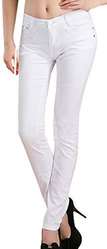 Snone Femmes Pantalons Long Femme Tendance Automne Mince Pantalon lasticit Jeans Style Coren Pantalons Dcontracts Slim Leggings Jean Maigre Pantalon Crayon Pantalon Blanc