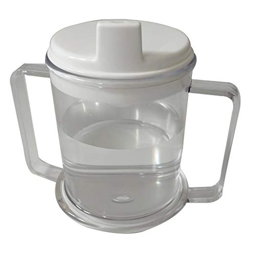 (ALOVEMO Independence 2-Handle Plastic Mug Units Anti-Overflow Cup Duck-Billed Cup)