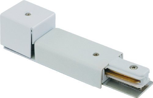 Liteline CA6106-WH Live End Conduit Feed For Track Fixtures, White (Live End Conduit Feed Track)