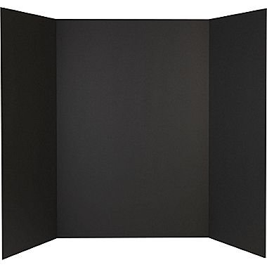 Tri-Fold Presentation Boards (48 x 36 in; Black; Pack of 24) - only $6.99 each by RiteCo