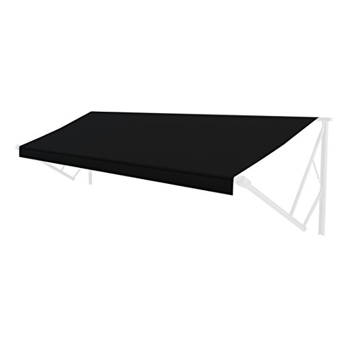 Solera Universal Fit Heavy-Duty Vinyl RV Patio Awning Replacement Fabric Solid Black 15′ A ...