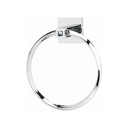 - Alno C8440-PC Contemporary II Crystal Modern Towel Rings, 6