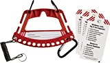 Red Portable Safety Lock and Tag Carrier