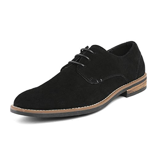 Bruno Marc Men's URBAN-08 Black Suede Leather Lace Up Oxfords Shoes - 8.5 M US