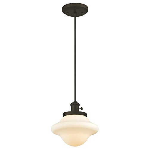 Westinghouse Lighting 6346500 One-Light Mini Pendant, Oil Rubbed Bronze Finish with Frosted Opal Glass, Bron