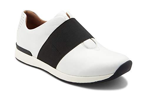 Vionic Women's Cosmic Codie Metallic Slip-On Casual Sneaker White