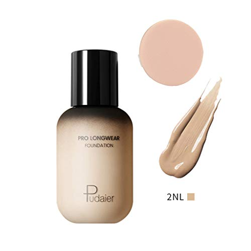 Concealer Face Eye Foundation Liquid+Puff Block Defect Highlight Contour Liquid Stick 2019 Summer - Best Gift for Girl, Women, Ladies to Travel, Dating, Leisure (A) ()