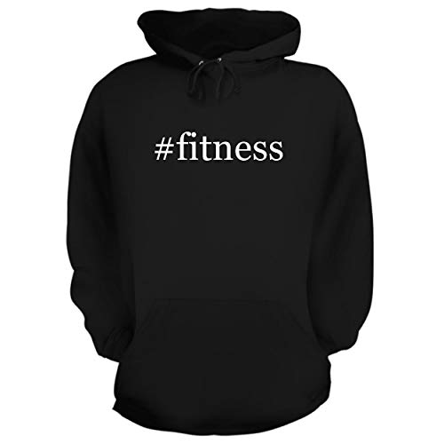 BH Cool Designs #Fitness - Graphic Hoodie Sweatshirt, Black, XXX-Large ()