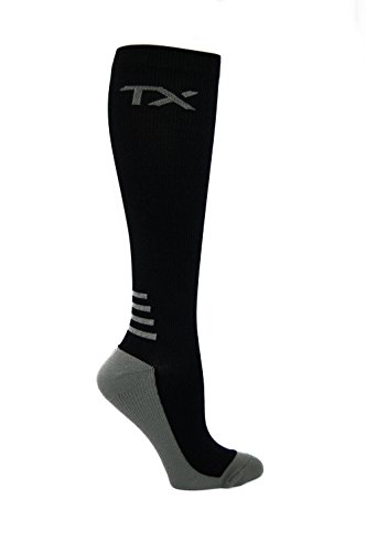 TX Unisex Athletic Compression Socks 20-30 mmHg Graduated Support – Moisture Wicking for Cool Comfort – Cushioned Soles – For Runners, Nurses, Diabetics & Improves (Cushioned Sole Socks)
