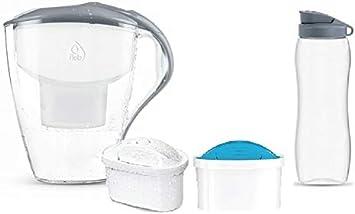 rg-vertrieb Wasserfilterkanne Dafi Astra 3L Tischwasserfilter Grau Standard und Mg+ Filter Filterkanne 2 Filter Filterkartuschen Unimax Trinkflasche 0,7L