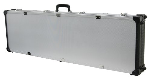 T.Z. Case International TZM0053 SD 53 x 16 x 5-Inch Double Scope Rifle/Shotgun Case with Wheels, Silver Dot Finish