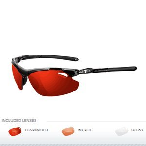 Tifosi Tyrant 2.0 Sunglasses Gloss Black / Clarion Red / AC Red / Clear One Size