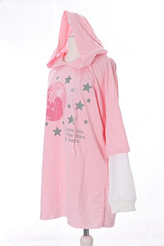 TS-74-2 rosa Mond Sterne Moon Pastel Goth Lolita Twin-Optik Pullover Kapuzen-Sweatshirt Harajuku Kawaii-Story