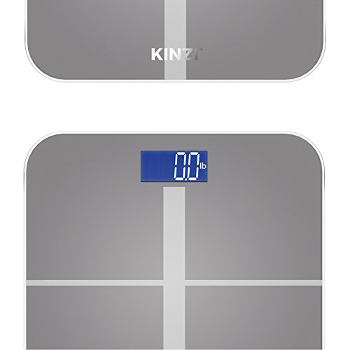 Kinzi Precision Digital Bathroom Scale W Extra Large Lighted Import It All