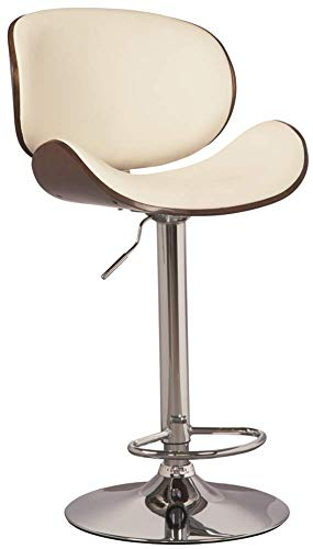 Ashley Furniture Signature Design - Bellatier Tall Upholstered Swivel Barstool - Contemporary Style - Brown/White (Retailers Furniture Luxury)