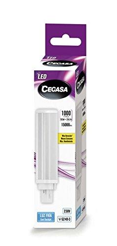 LAMPARA CEGASA LED PLC G24d-3 10,5w 1000 LM 120º 5000K: Amazon.es: Iluminación