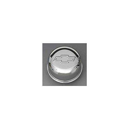 Eckler's Premier Quality Products 57136189 Chevy Intake Oil Fill Tube Breather Cap Chrome PushIn With Bowtie Logo ()