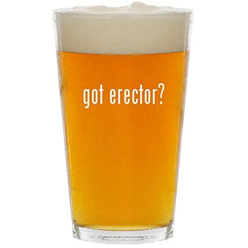 got erector? - Glass 16oz Beer Pint ()