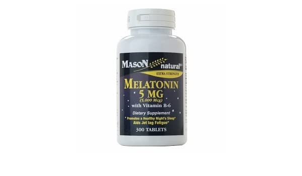 Amazon.com: Mason Natural Melatonin 5 mg with Vitamin B-6, Tablets 300 ea …: Health & Personal Care