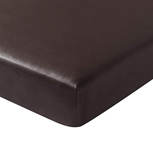 subrtex PU Couch Slipcover Slip Covers Water-Proof Loveseat Stretch Durable Chair Sofa Cushion Patio Spandex Elastic Furniture Protector for Settee Seat (Small, Chocolate Leather