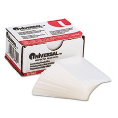 (3 Pack Value Bundle) UNV84642 Clear Laminating Pouches, 5 mil, 2 3/16 x 3 11/16, Business Card Size, 100 by UNV84642