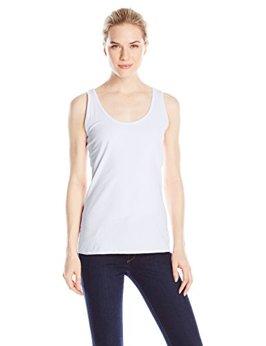 Hanes Women's Scoop Neck Tank Top, White, Medium