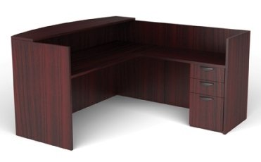 (Offices To Go L Shaped Reception Desk W/Drawers W/Transaction Top 71