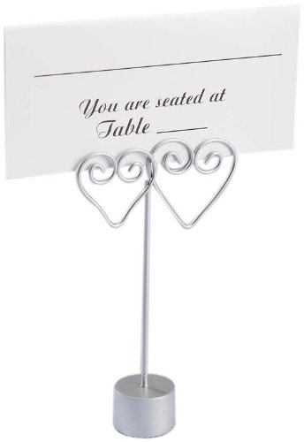 Darice 1406 40, Double Heart Wire Place Card Holder, 12 Piece,