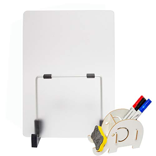 (Whiteboard Desktop Easel Dry Erase Board for Memo, Schdule Remind Perfect for Offices, Homes, Schools - 8.2x11.7 inches)