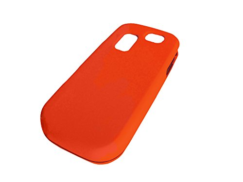 For Samsung Gravity 2 T469 / SGH-T469 / T404g Phone Cover Hard Faceplate Case Accessories + Happy Face Phone Dust Plug (Orange) ()