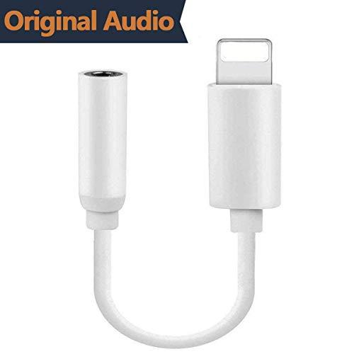 Entinady Compatible for Adapter Headphone Jack AUX Audio to 3.5mm Dongle Listen Music Headset Earphone Convertor Connector Cable Flash Replacement for iPhone7/7 Plus/Phone 8/8 Plus/X
