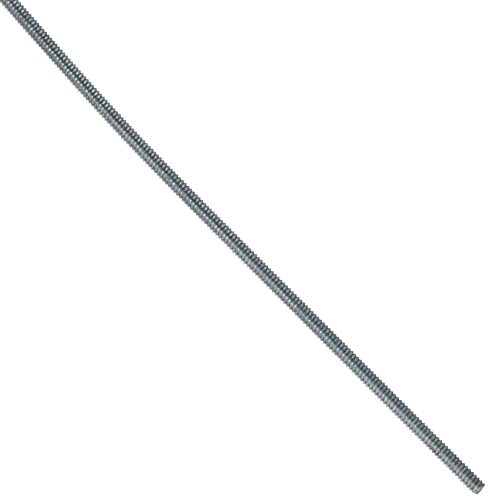 Steel Fully Threaded Rod, Zinc Plated, #4-40 Thread Size, 24