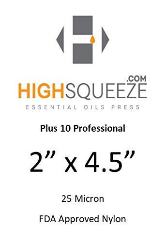 2 x 4,5 rosina de extracció n Micron (u) bolsas de filtro, 25 Micron, 10 5 rosina de extracción Micron (u) bolsas de filtro HighSqueeze