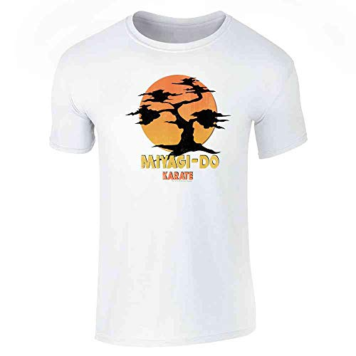 Karate Kid Miyagi-Do Dojo Bonsai Sunset Costume White L Short Sleeve T-Shirt