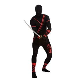 - 31YHHrLuQVL - Rubie's Costume Adult Ninja 2nd Skin Zentai Super Suit Costume