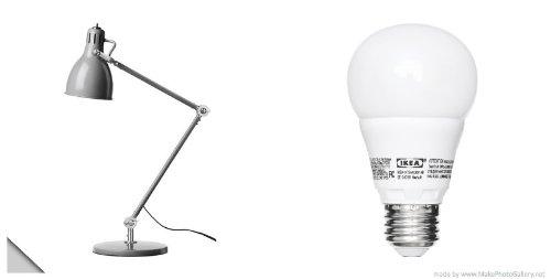 Led Lampen Ikea : Ikea u2013 arÖd arbeitsleuchte grau und ledare led lampe e26 globe